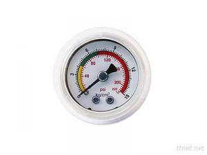 Embedded all-plastic PP oil-filled pressure gauge
