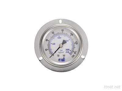 Oil-Filled Embedded All-Stainless Steel Pressure Gauge Attached To The Front